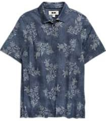 joseph abboud dark blue floral polo shirt