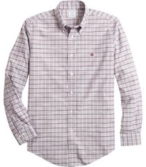 camisa non-iron regent fit- morado brooks brothers
