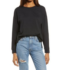 women's madewell newville cotton t-shirt, size xx-small - black