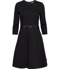 milano c-nk dress knälång klänning svart calvin klein