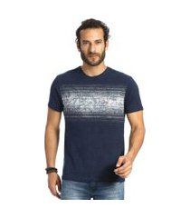 camiseta vlcs mind slim tecido diferenciado azul
