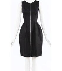 alaia hourglass cotton dress black sz: s