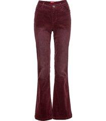 pantaloni in velluto elasticizzato flared (rosso) - john baner jeanswear