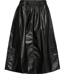 alba midi skirt knälång kjol svart soft rebels