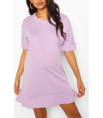 maternity tunic dress, lilac