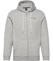 hooded full zip sweatshirt hoodie trui grijs champion