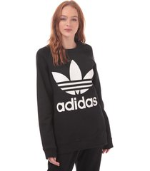 womens trefoil oversize sweatshirt