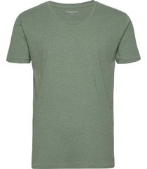 basic loose fit o-neck tee gots t-shirts short-sleeved grön knowledge cotton apparel