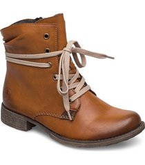 70829-24 shoes boots ankle boots ankle boot - heel brun rieker