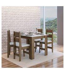 conjunto mesa fixa 4 cadeiras mdf milano ameixa negra lilies