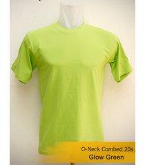 best men's classic o-neck plain glow green tshirt 100% cotton blank tee