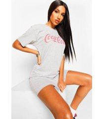 gelicenseerde coca-cola t-shirtjurk, grey