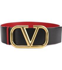 reversible vlogo leather belt