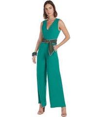 macacão maria. valentina pantalona com bolso feminino - feminino