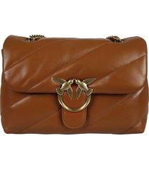 pinko love classic puff maxi quilt shoulder bag