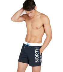 north sails heren zwembroek - volley contrast navy/blauw