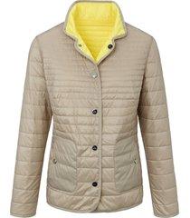 tweezijdig te dragen gewatteerde jas van basler grijs