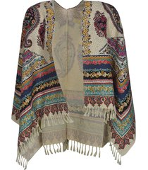 dsquared2 abstract print poncho