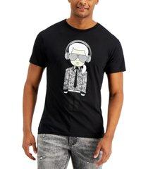 karl lagerfeld men's headphones karl reflective graphic t-shirt