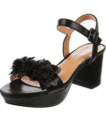 sandalia negra lady stork florinda