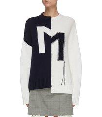 crooked m merino wool sweater