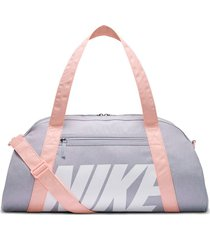 maletin nike gym club - gris claro