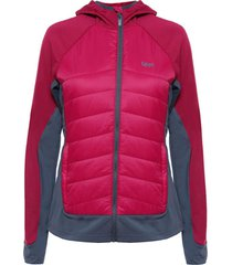 chaquetas mujer steam-pro light hoody jacket fucsia / gris oscuro lippi