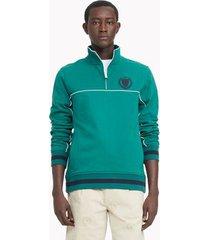 tommy hilfiger men's essential organic cotton hilfiger track jacket evergreen - xl
