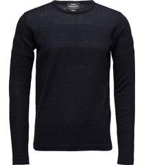 100% light wool klap gebreide trui met ronde kraag zwart mads nørgaard