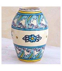 ceramic vase, 'bermuda' (small) (guatemala)