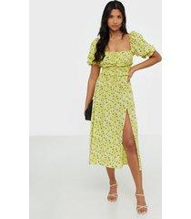 for love & lemons chrysanthemum midi dress loose fit dresses