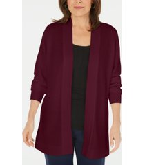 karen scott plus size long-sleeve open-front cardigan, created for macy's