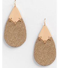 maurices womens gold glitter drop earrings