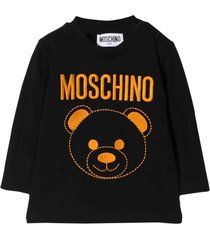 moschino black t-shirt with orange frontal press