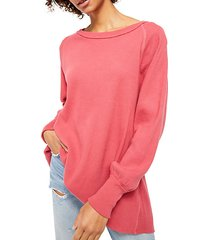 amelia thermal high-low sweater