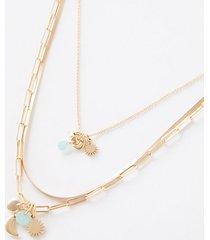 loft stone charm layered necklace