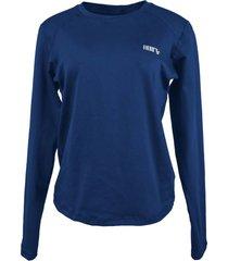 blusa tã©rmica feminina segunda pele thermo premium original regular fit - azul marinho - feminino - poliã©ster - dafiti