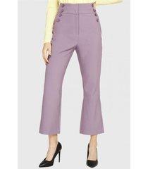 pantalón botones decorativos lila nicopoly