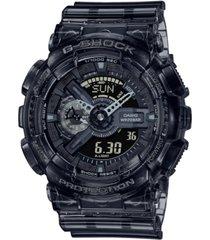 g-shock men's analog-digital clear smoke resin watch 51.2mm