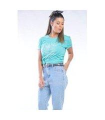 camiseta cia gota manga curta carpe dien feminina