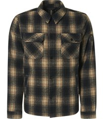 no excess 97630923 check shirt overhemd 014 stone no-excess