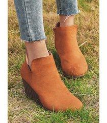 tobillo de cuñas de moda para mujer de gran tamaño botas