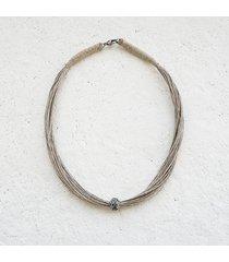 adaline minimalistyczny naszyjnik lniany