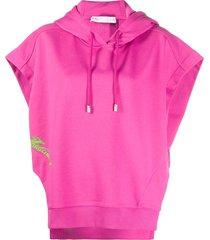 fenty beyond limits print short-sleeve hoodie - pink