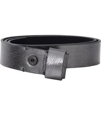 metallic silver belt