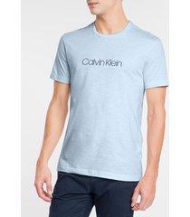 camiseta masculina slim flamê azul claro calvin klein - gg
