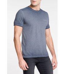 camiseta ckj mc estampa logo peito - indigo - ggg
