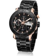 reloj de hombre t5 pulso acero h3635g-e - plateado/oro rosa