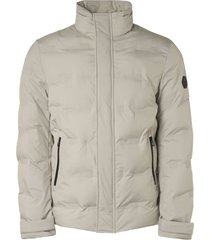 no excess jacket short fit padded sealed chalk