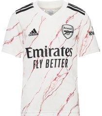 arsenal youth away jersey t-shirts football shirts crème adidas performance
